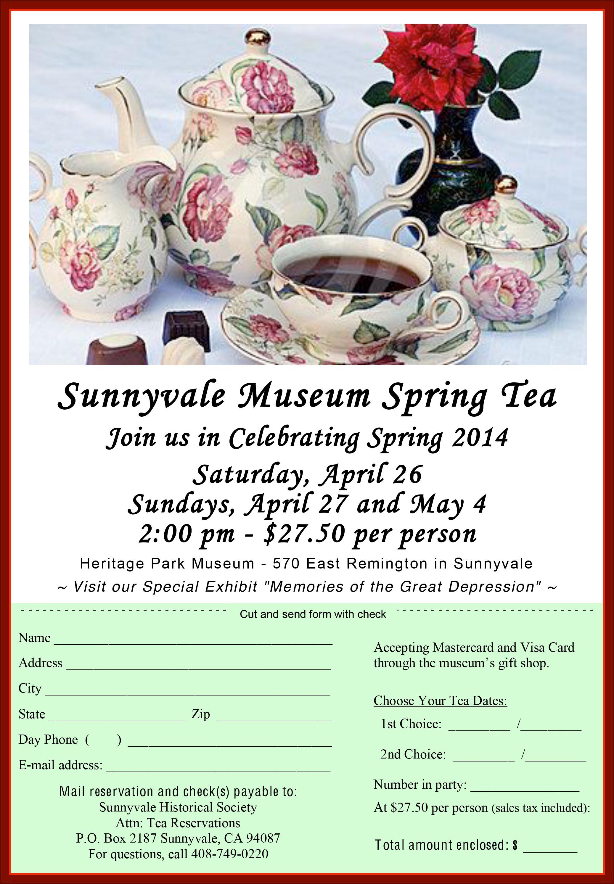 2014 Museum Spring Tea Flyer