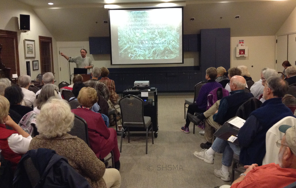 Mark Hylkema presenting Excavating the Castroville Mammoths