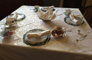 Holiday Tea Setting