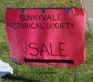 street sign for April 18, 2015 garage sale