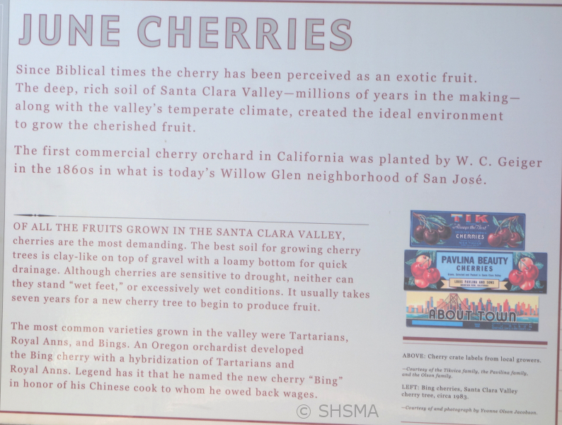 cherry information sign