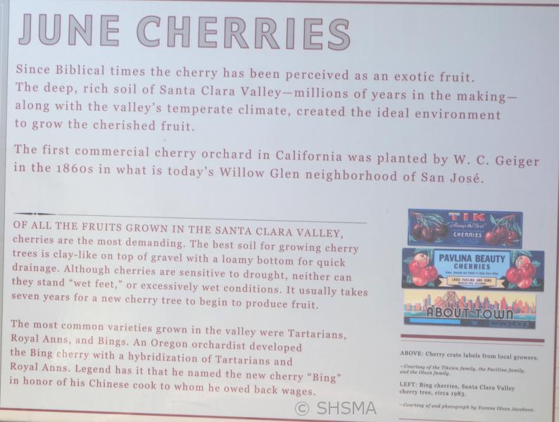 cherry information sign