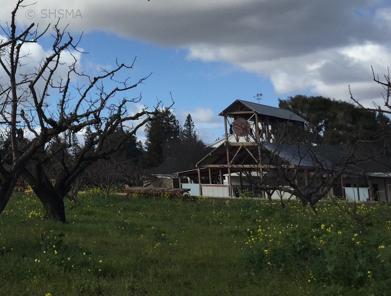Orchard in winter with OHPIE in background - January 30, 2016