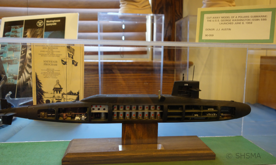 Polaris submarine model