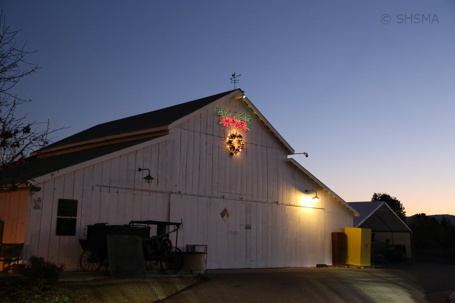 Bianchi Barn Decorated for the Holidays