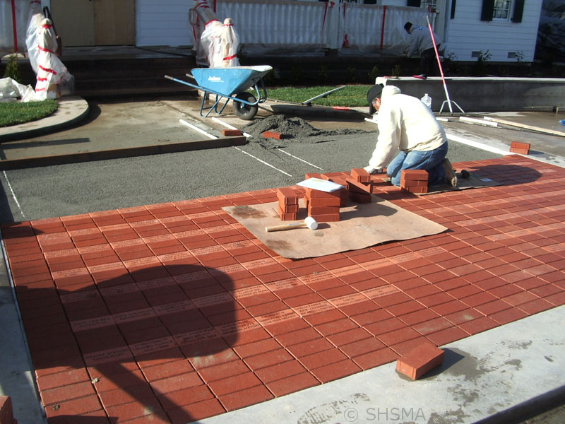 February 1, 2008 — Dedication Bricks Installed