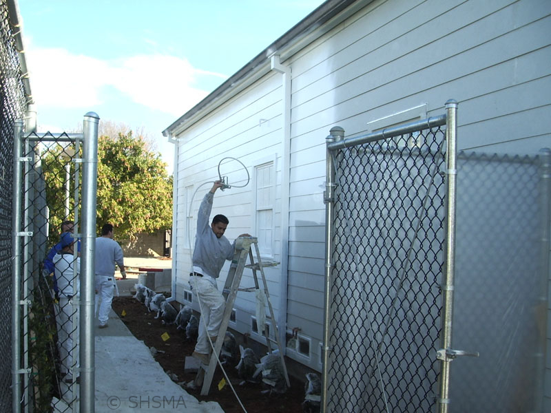 January 3, 2008 — Exterior Painting Underway