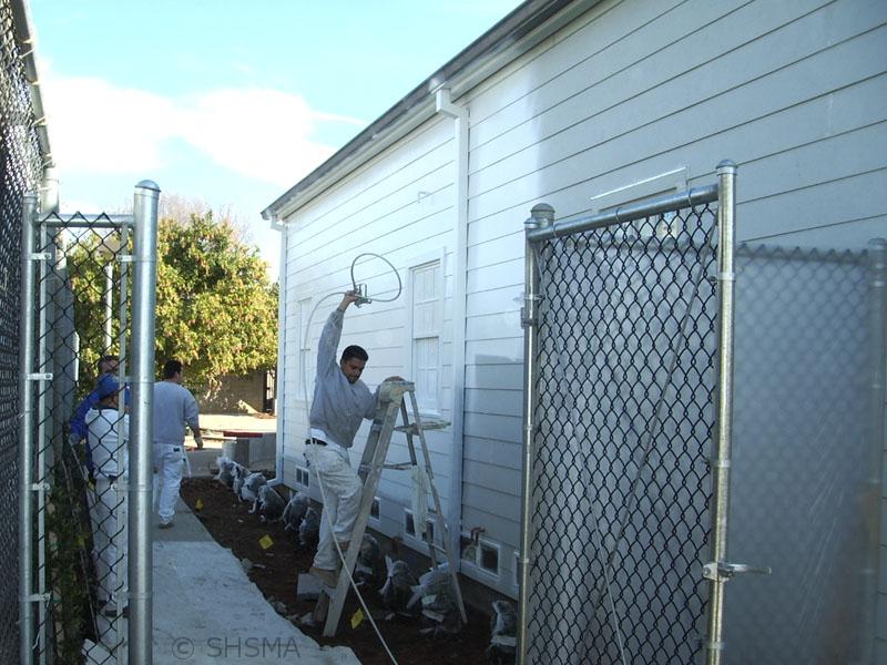 January 3, 2008 — Exterior Painting Underway