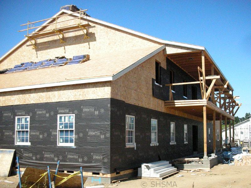 September 14, 2007 — First Floor Windows Are Installed