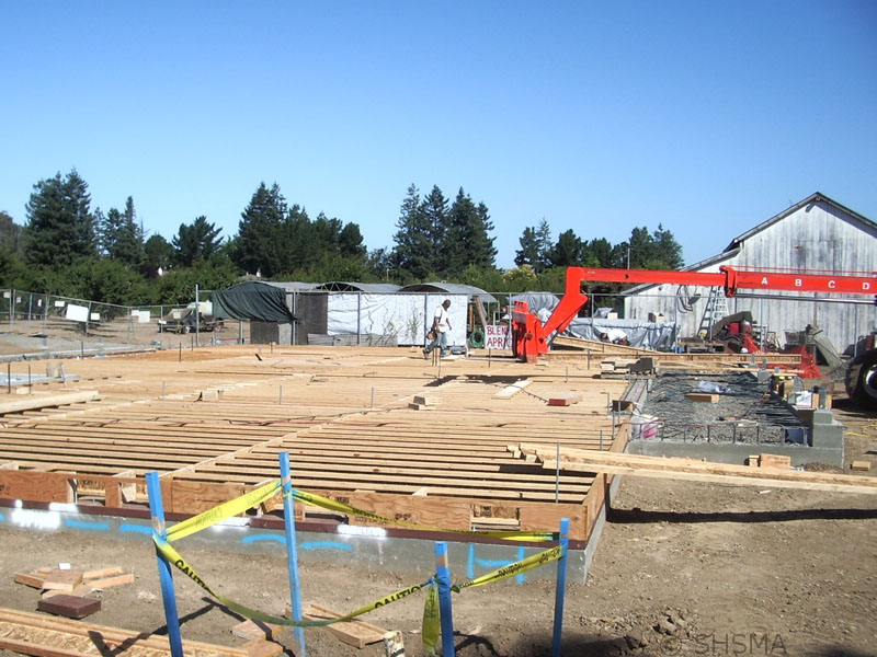 July 3, 2007 — Floor joists installed