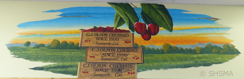 Trader Joe Mural, cherries