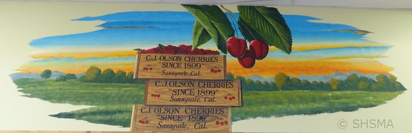 Trader Joe Mural, cherries