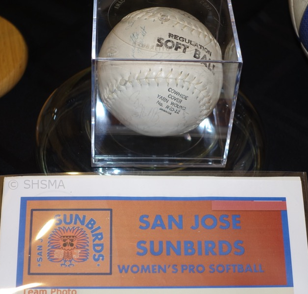 San Jose Sunbirds Softball with Team Signatures