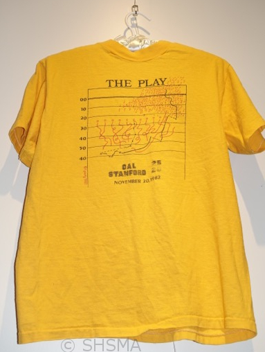 Cal/Stanford 1982 game t-shirt