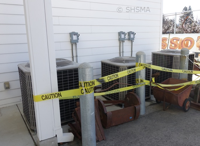 Air conditioners behind the museum, February 22, 2016