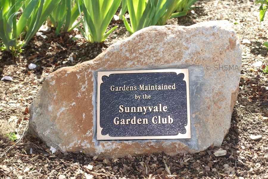 Sunnyvale Garden Club sign, March 15, 2016