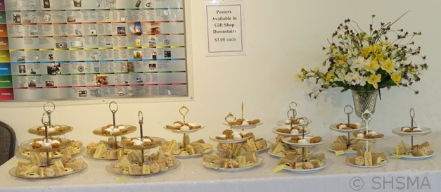 Tea sandwiches and sweets ready to serve