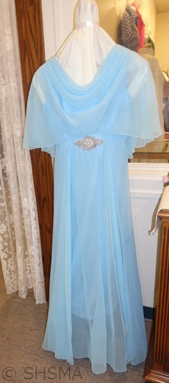 beautiful blue dress for afternoon tea