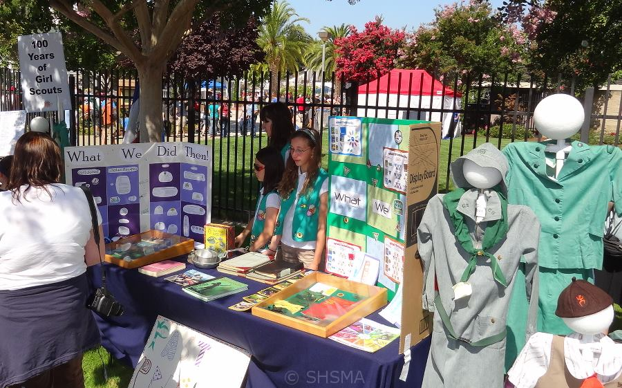 Local Girl Scout Troop Booth