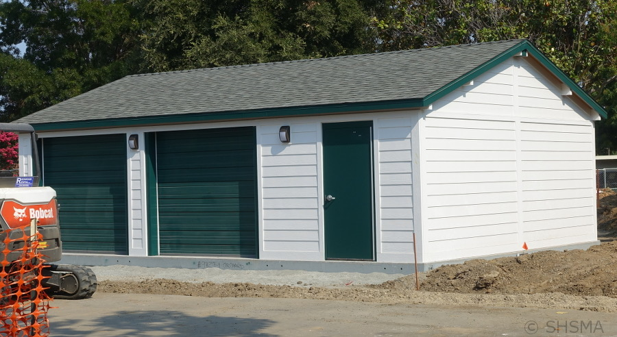 New Garage by the parking lot, August 21, 2018