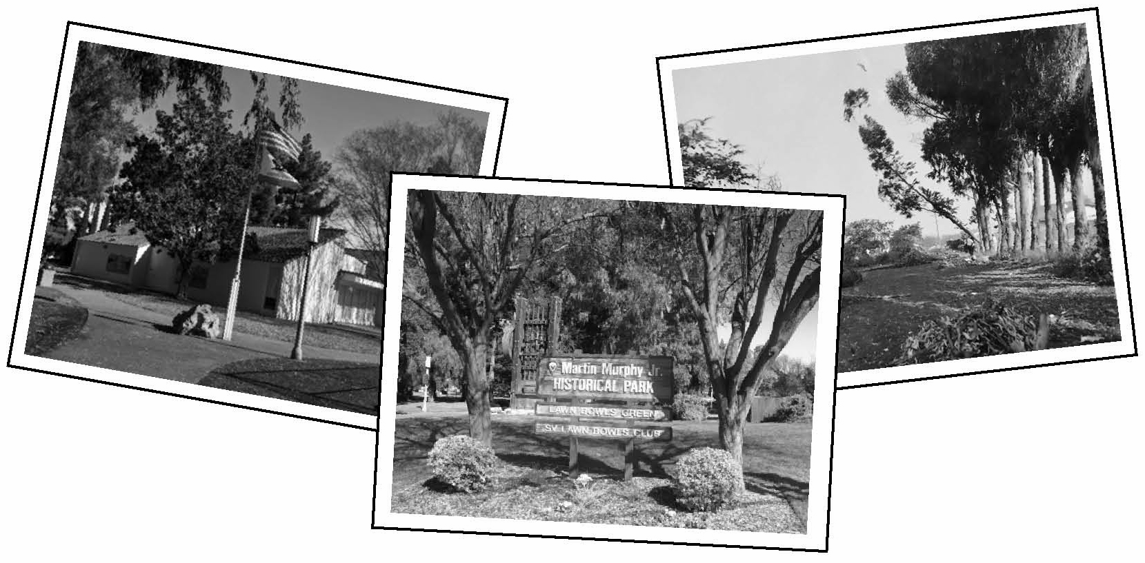 3 photos of the land and buildings on Murphy Park, Sunnyvale