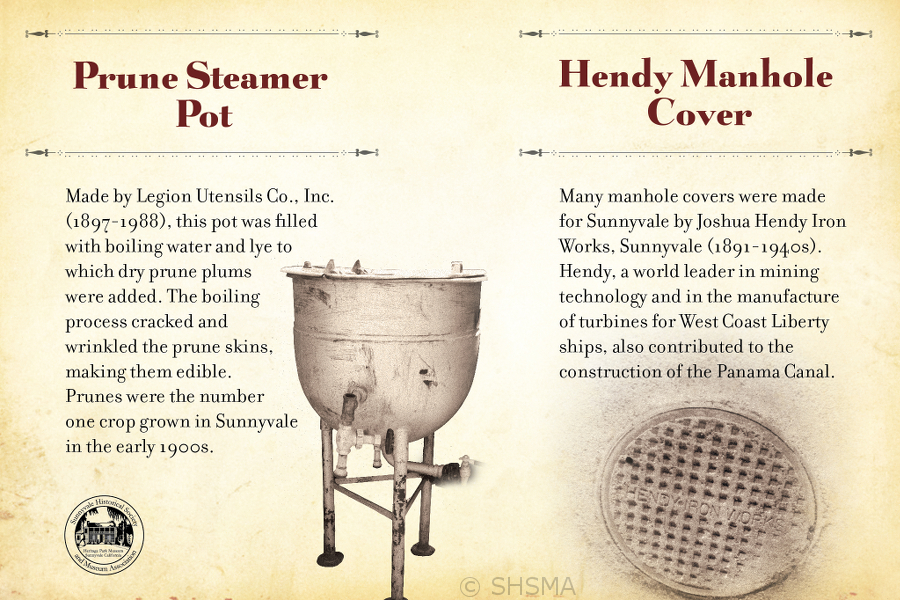 Prune Steamer Pot & Hendy Manhole Cover Signs