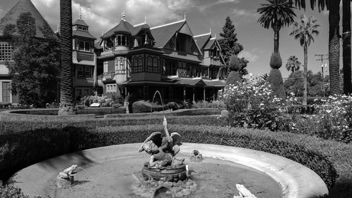 The Winchester house, in all of its architectural splendor