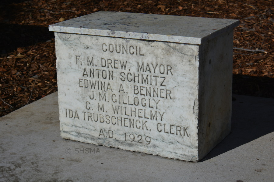 1929 City Hall Cornerstone