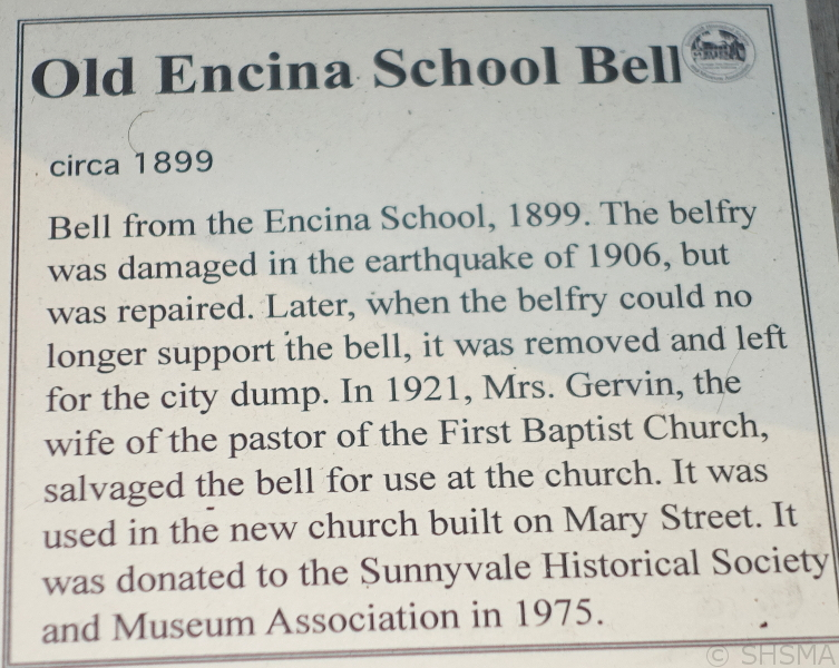 Encina School Bell Sign