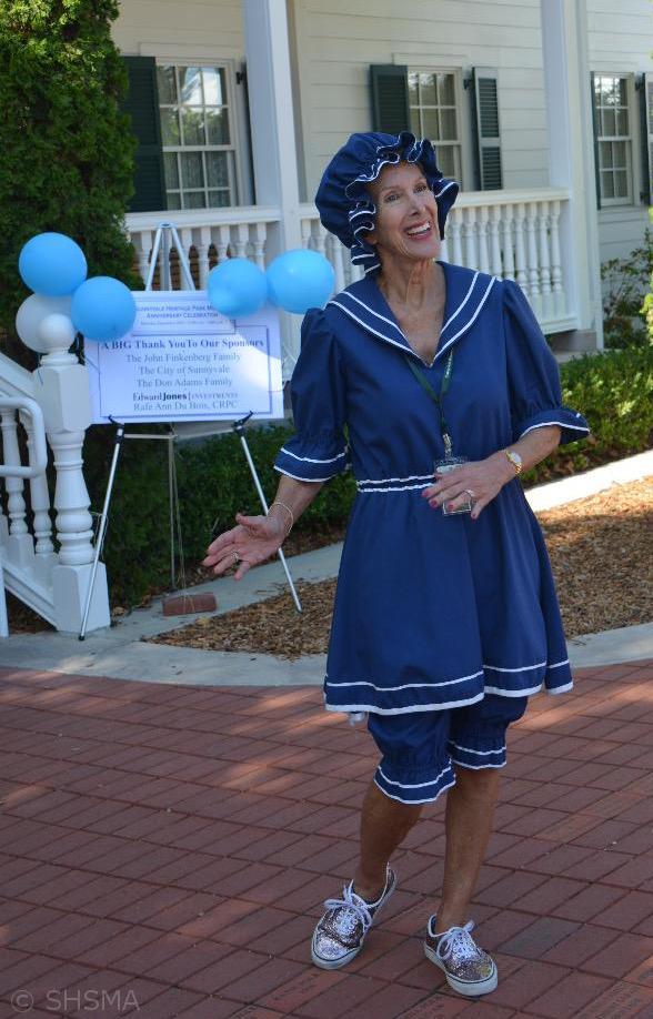 Dixie Larsen in antique bathing suit