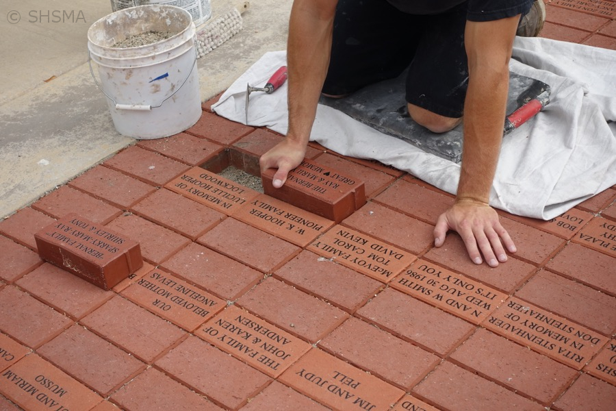 Setting new brick, August 15, 2016