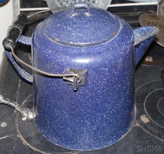 Enamel Coffee Pot in the Kitchen