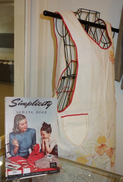 apron on dress form