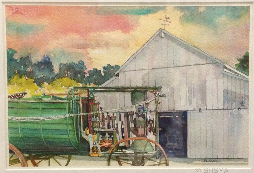 Watercolor done by local artist Cleo Crouch of the Sunnyvale Art Club