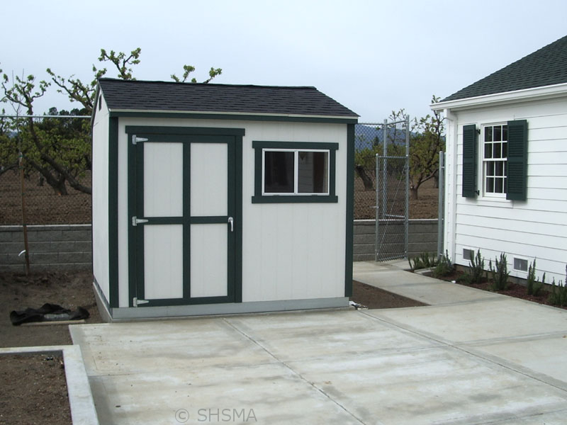 March 18, 2008 — Garden Shed Installed