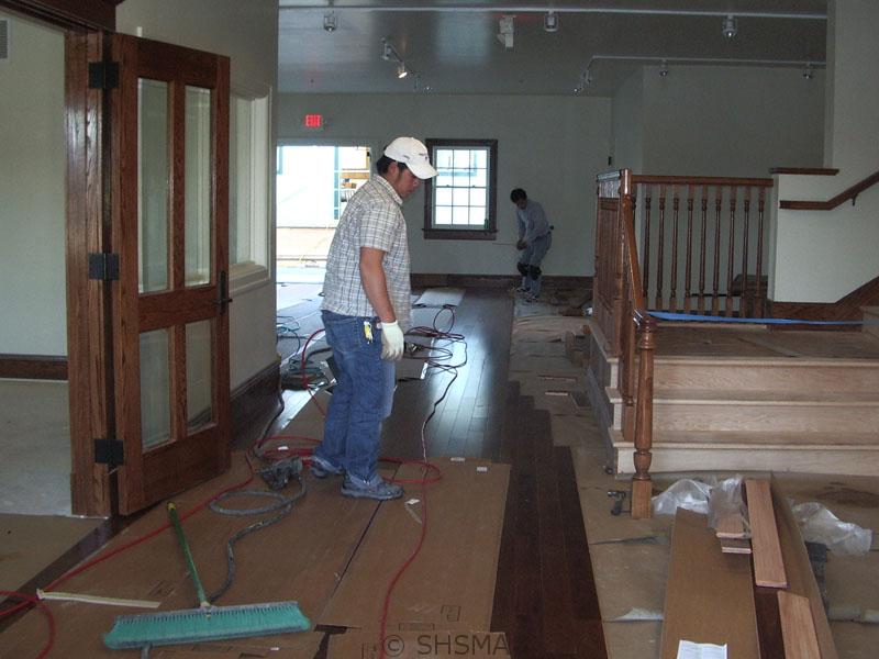 February 11, 2008 — Hardware Floor Installation