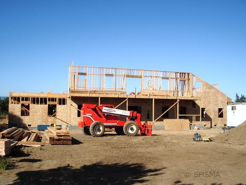 August 15, 2007 — Second Floor Walls Going Up