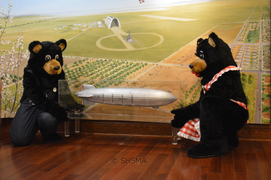 The bears learn about Moffet Field