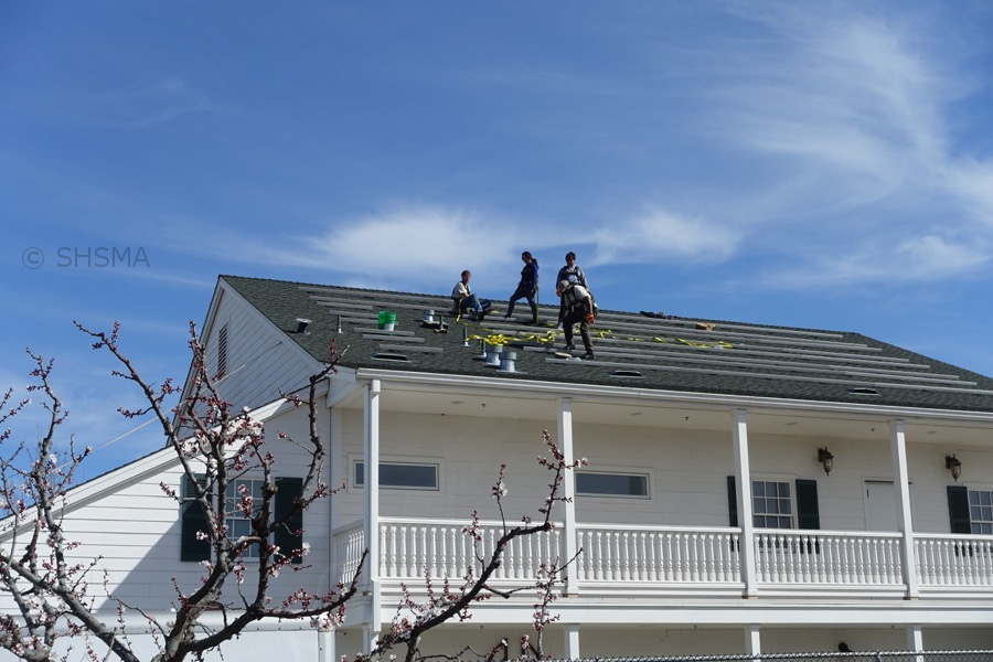 Installing the rails on the roof, February 22, 2016