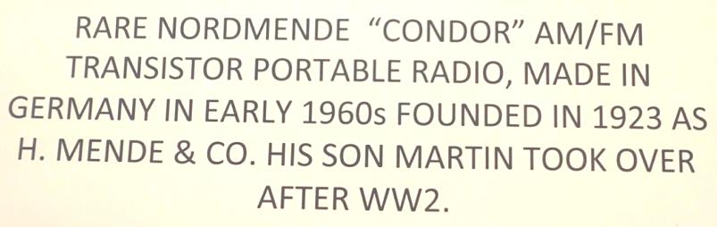 Transistor Radio Sign