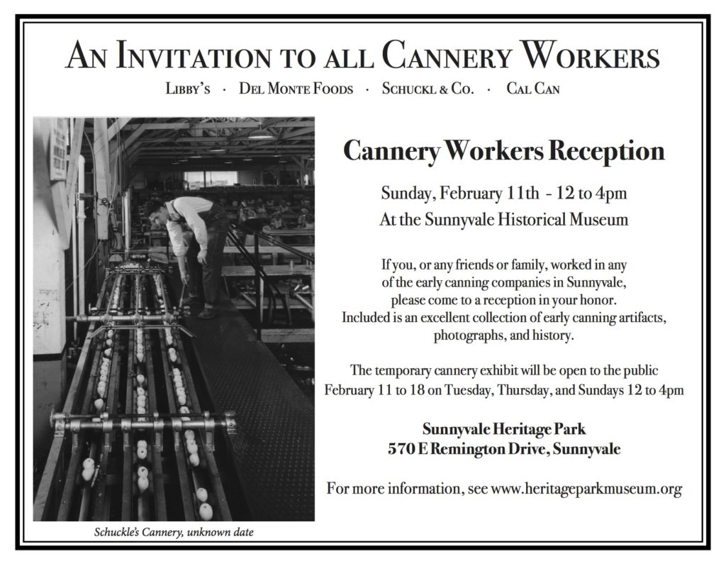 Cannery Reception Flyer