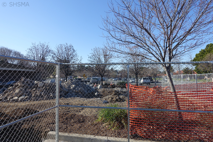 Clearing the area next to the maintenance building, February 8, 2018