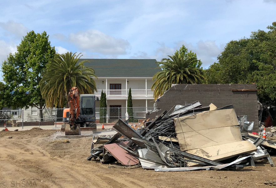Maintenance Building Almost Gone - June 9, 2018