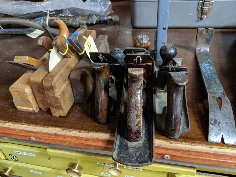 a set of vintage tools for woodworking