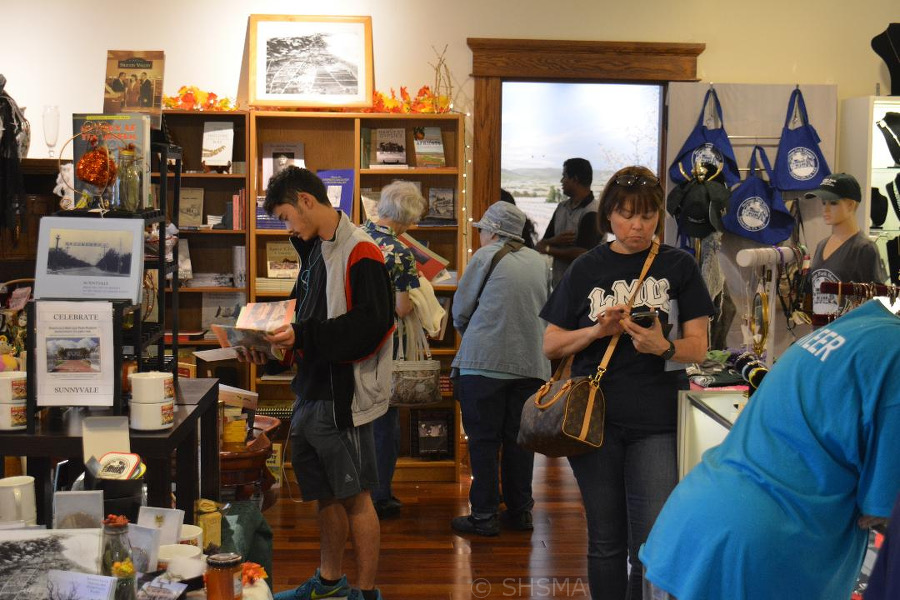 Busy museum store
