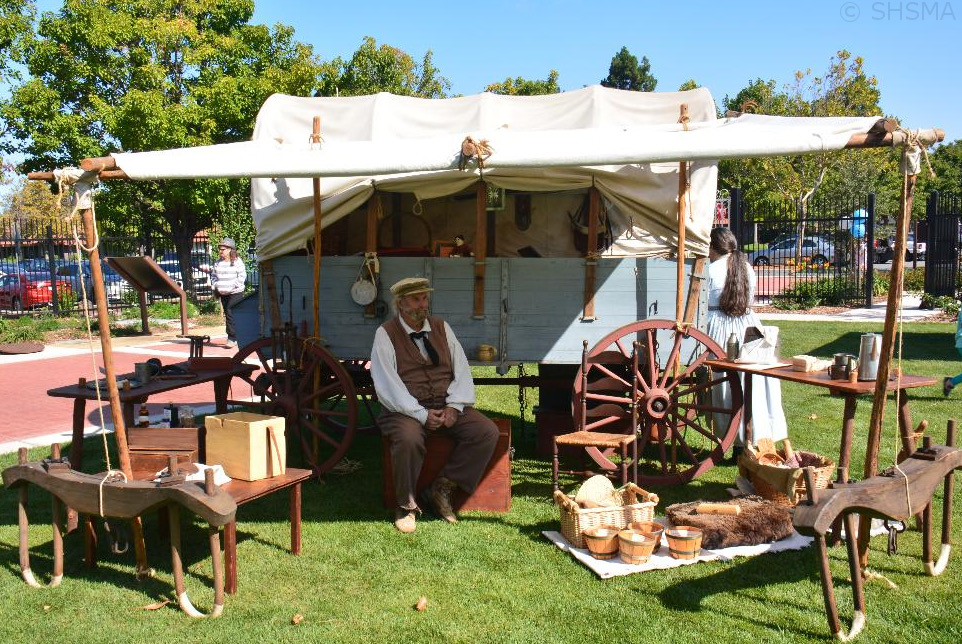 Authentic, fully-stocked covered wagon