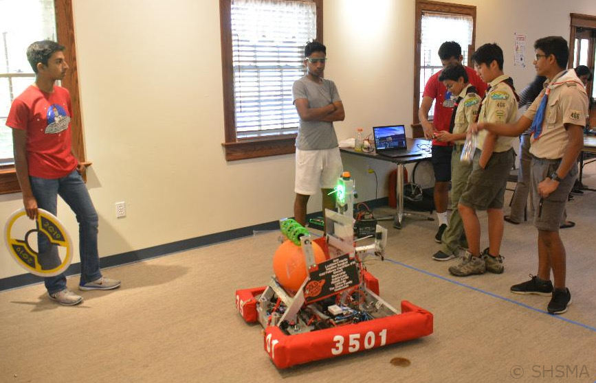Fremont Firebots robotics demonstration